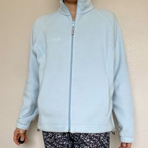 Columbia blue Zip Up Fleece Jacket M